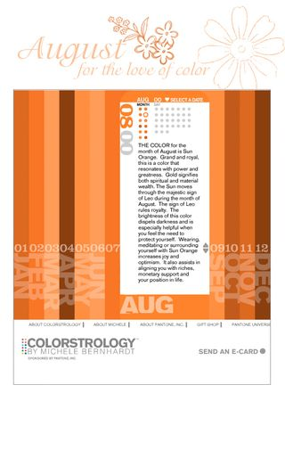Colorstrology august page 1